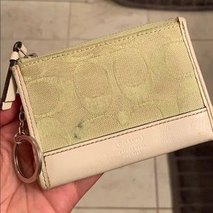Light Green Coach Coin Purse